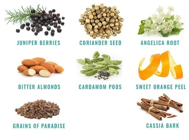 Organic gin botanicals